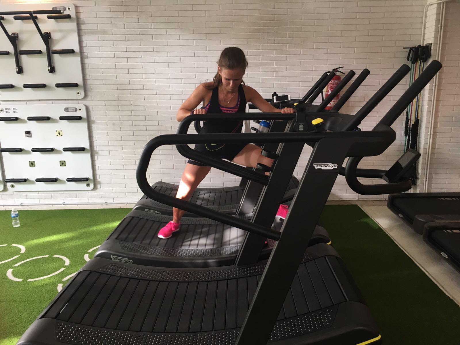 Shuffle on treadmill variation